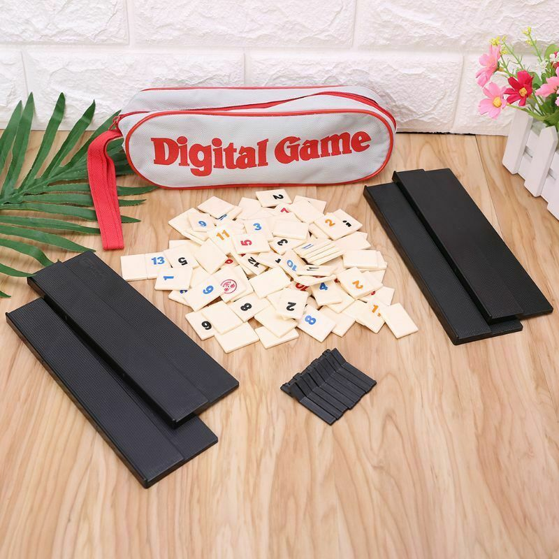 Portable Israel Mahjong Original Digital Game Fast Moving Rummy Tile Family Game Travelling Version Classic Board Game