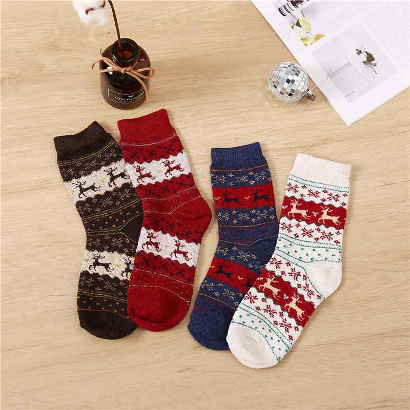 Frauen Winter Dicke Warme Tier Wolle Socken für Damen Casual Weibliche/Männliche Socken Heißer Verkauf Thermische Warme Bequeme Socken weihnachten
