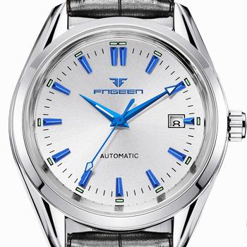 Mechaniczne zegarki na rękę 2020 marka zegarki luksusowe mężczyzna świecący kalendarz wodoodporna stal nierdzewna automatyczne męskie zegarki tanie i dobre opinie FNGEEN 3Bar Składane zapięcie z bezpieczeństwem Biznes Automatyczne self-wiatr 22 5cm STAINLESS STEEL Odporny na wstrząsy