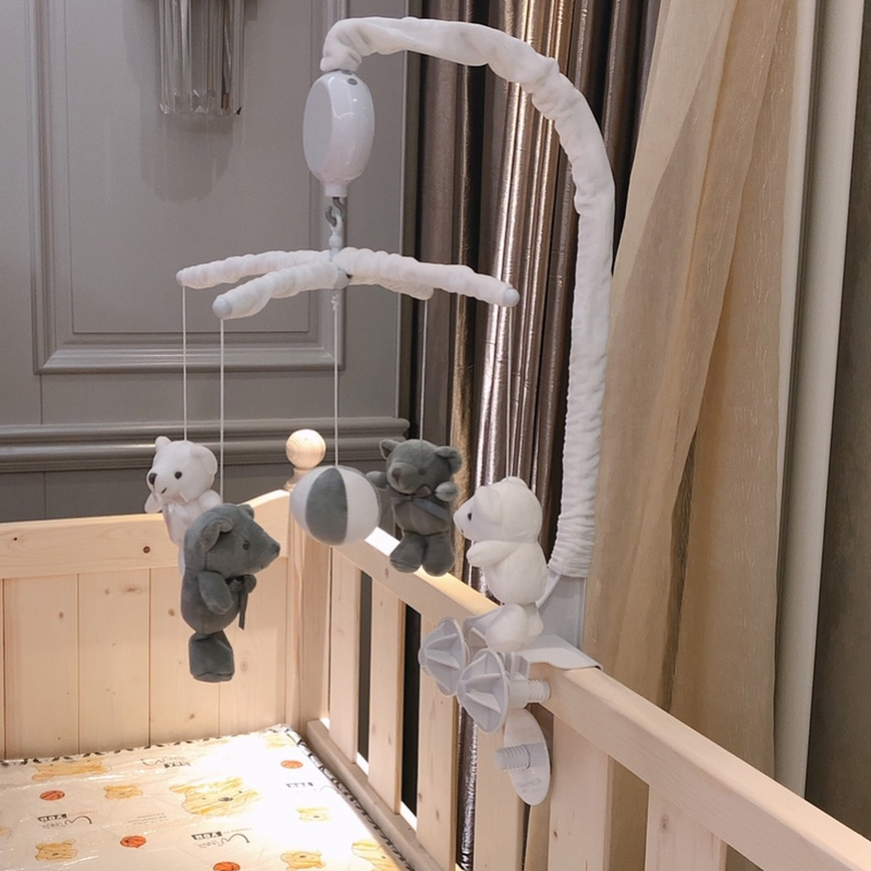 Baby Toys DIY Mobile Crib Rattles Holder Bracket Bed Bell Hanging Toy Material With Music Box Baby Toys 0-12 Months Stroller Toy
