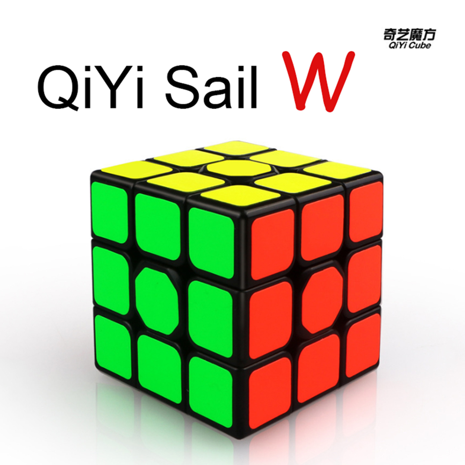 QiYi Sail W 3x3x3 Profissional Magic Cube Competition Speed Puzzle Cubes Toys For Children Kids Cubo Magico - Black
