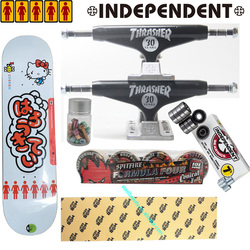 Ganze kit unabhängige skateboard lkw spitfire räder MOB grip band mädchen hallo kitty skateboard deck lager gute qualität