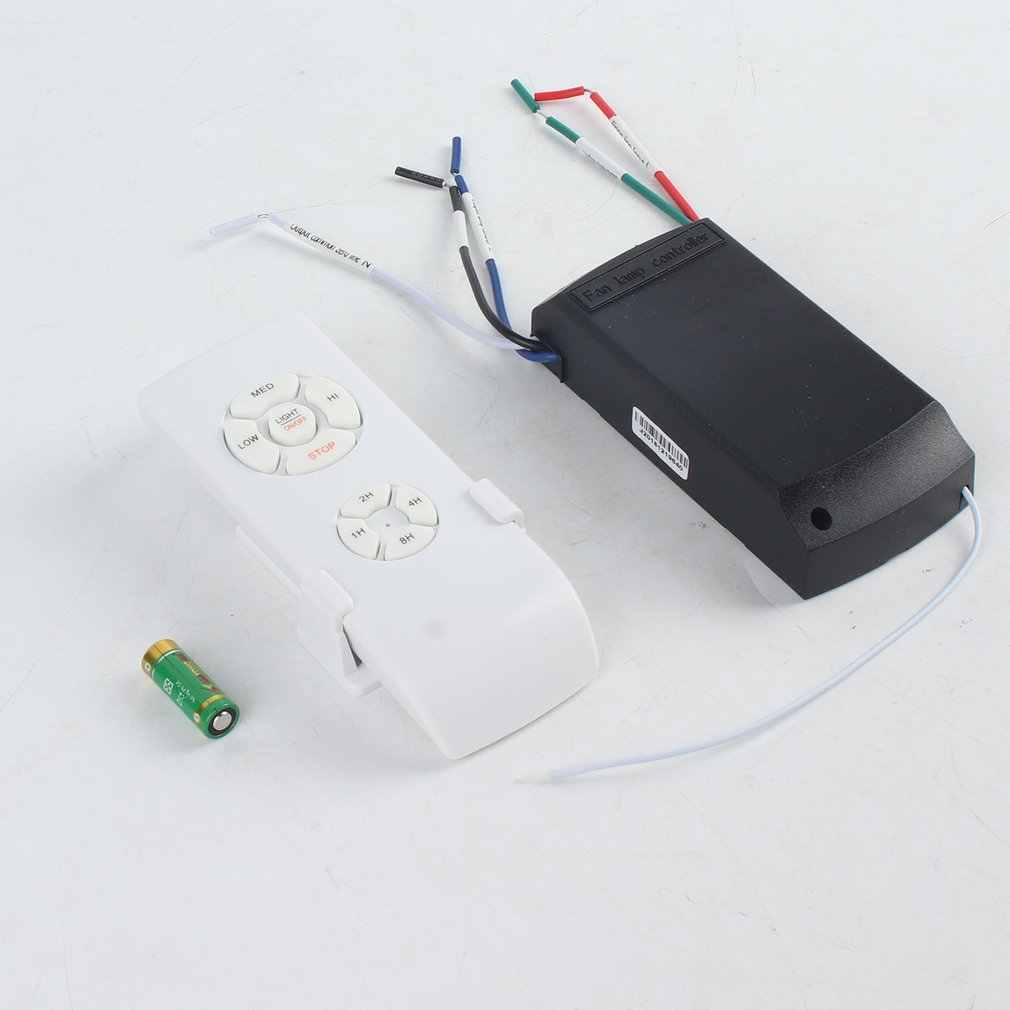 Universal Ceiling Fan Lamp Remote Control Kit 110-240V Timing Wireless Control Switch Adjusted Wind Speed Transmitter Receiver