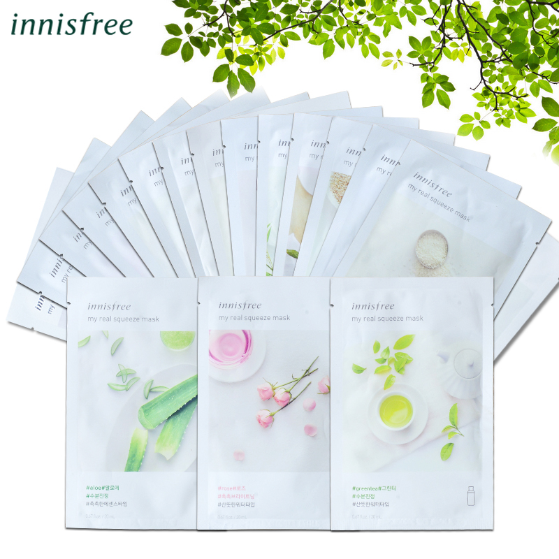 Innisfree It's Real Squeeze Mask Moisturizing Oil-control Sheet Mask Anti-Aging Smooth Skin Korea Cosmetics Facial Mask