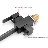 Copper Three in One Water Purifier Faucet Kitchen Sink Net Faucet Rotating Straight Drinking Fountains Pure Water Home Square 36