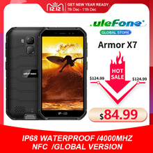 Ulefone Armor X7  Android 10 Rugged Smartphone IP68 Waterproof Cell Phone 2GB 16GB Quad core NFC 4G LTE Global Mobile Phone