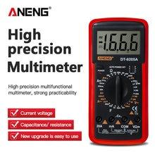 ANENG DT9205A Multimetro Digitale AC/DC Transistor Tester Elettrico NCV Test Meter Profesional Analogico Auto Gamma Multimetro