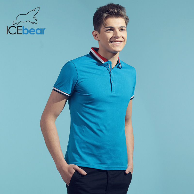 Icebear 2020 Summer New T-shirt Men's Quick-drying Slim Cultural Shirt Short-sleeved Shirt Neutral Style 1588