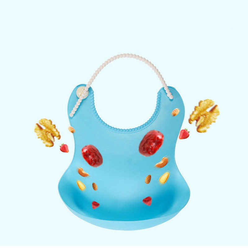 Kid niemowlę śliniaki dziecięce miękkie silikonowy śliniak wodoodporne śliniaki kapiące małych dzieci dzieci narzędzia do karmienia chłopiec dziewczyna śliniaki fartuch