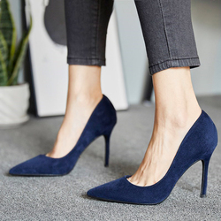 SLHJC 8 CM High Stiletto Heels Shoes Women Fashion Classic Pumps Party Office Work Shoes Female Pointed Toe Slip On Dress Shoes