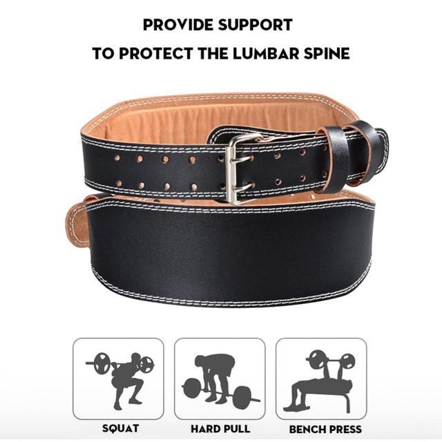 Men Women Weightlifting Belt Gym Fitness Weight Lifting Back Support PU Leather Power Strength Training Belt Uncategorized