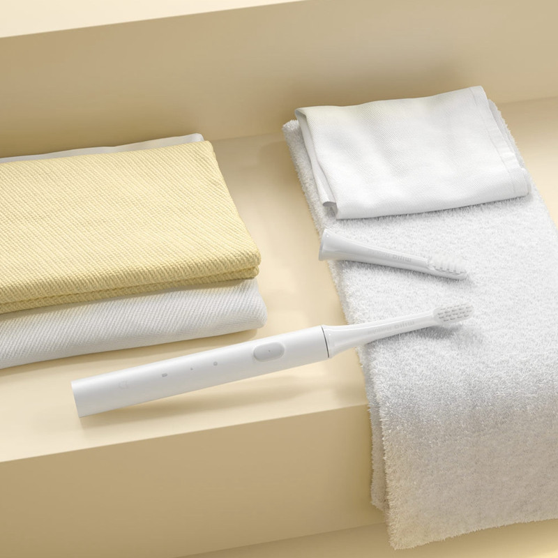 [New Version] 3Pcs Original Mijia T100 Mi Smart Electric Toothbrush 2 Speed Sonic Toothbrush Whitening Oral Care Zone Reminder