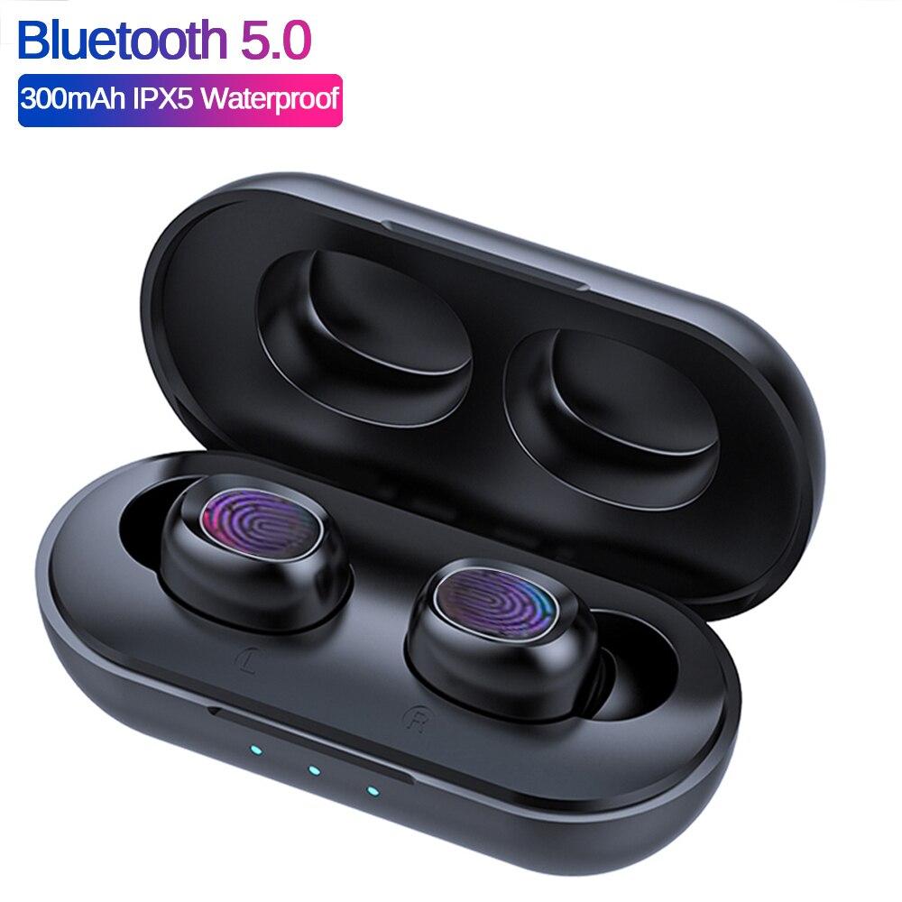 B5 TWS отпечатков пальцев сенсорный Bluetooth беспроводные наушники Hifi 6D стерео наушники с шумоподавлением игровая гарнитура PK GT1 H01 i9000