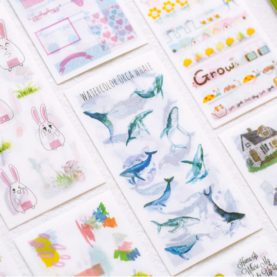 6 Sheets/pack Countryside Style Decorative Stationery Stickers Scrapbooking Diy Diary Album Stick Label