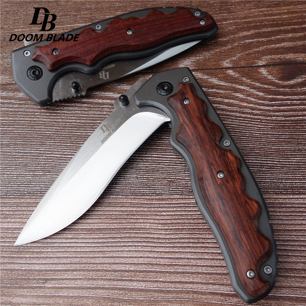 New 5CR15MOV sharp cutting knife, outdoor camping hunting survival folding knife tactic jungle adventure knife(China)