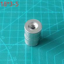 10PCS 18x3-5 Minor Super Powerful Magnet 18*3 Mm Hole 5mm Round Countersunk Magnetic 18x3-5mm Neodymium Disc Magnets