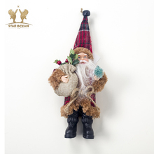 Cute Christmas Doll Toys Santa Claus Snowman Elk Tree Hanging Ornament Decoration for Home Xmas Party New Year Gifts