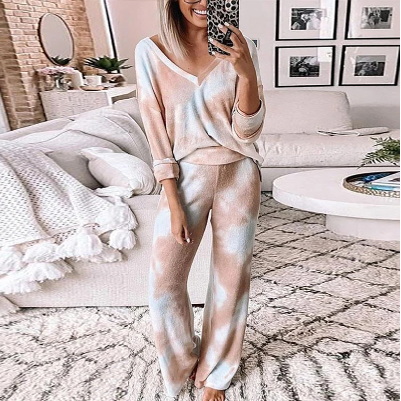 Pink Loose Tracksuits Lounge Wear Women Casual Two Piece Set Autumn Street t shirt Tops and Jogger Home Suit 2pcs Outfits 2020|Women's Sets| - AliExpress