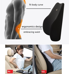 Image 5 - Soft Car Pillow Lumbar Support Cushion Car Seat Cushion Memory Foam Polyester Backrest Pad Orthopedic Relieve Pain Pillow