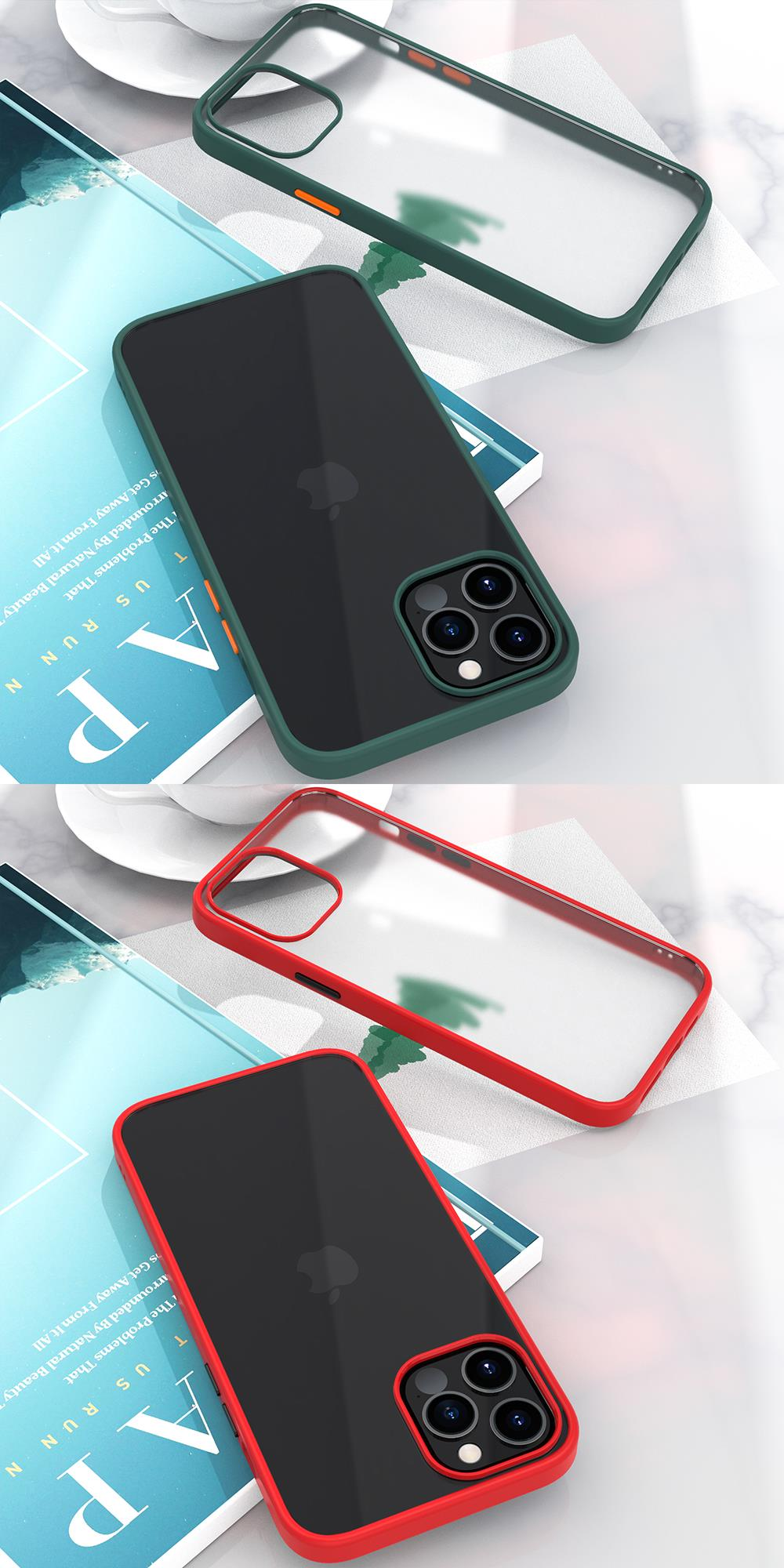New Fashion Transparent Shockproof Matte Clear Case for iPhone 12 Pro Max 4