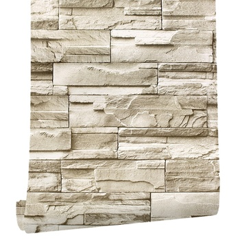 6M Vinyl 3D Brick Rock Sticker Paper Self Adhesive Wallpaper Furniture Wall Stickers