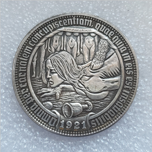 American Morgan hobo coin, woman stepped on by a cow, coin gift, woman stepped on by a cow, coin souvenir