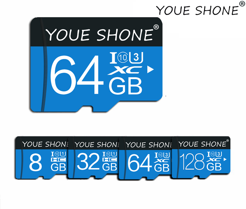 High Speed Class 10 16G 32G 64G 128G SD TF Memory Card Flash SD Card 4GB 8GB Storage Expansion For Smart Phone DVR