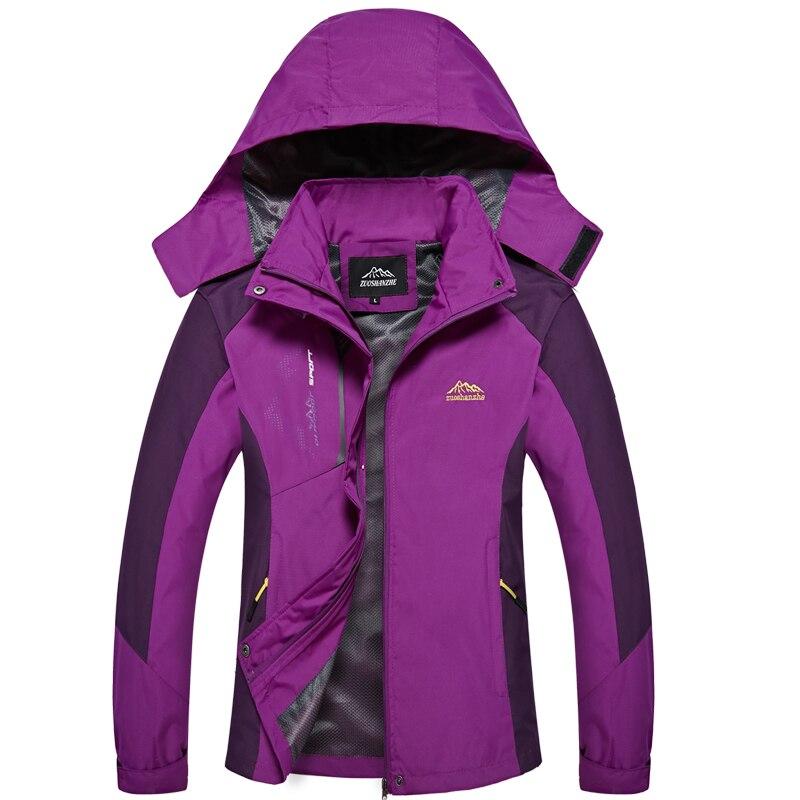Women Spring Autumn Casual Jacket Waterproof Windbreaker Outwear Hooded Coats Women Tourism Breathable Jacket Female Sportswear