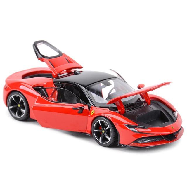 Bburago 1:24 Ferrari SF90 Stradale Sports Car Static Die Cast Vehicles Collectible Model Car Toys 2