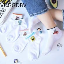 socks women calcetines blancos mujer chaussette femme sokken skarpetki damskie Cartoon popsocket funny