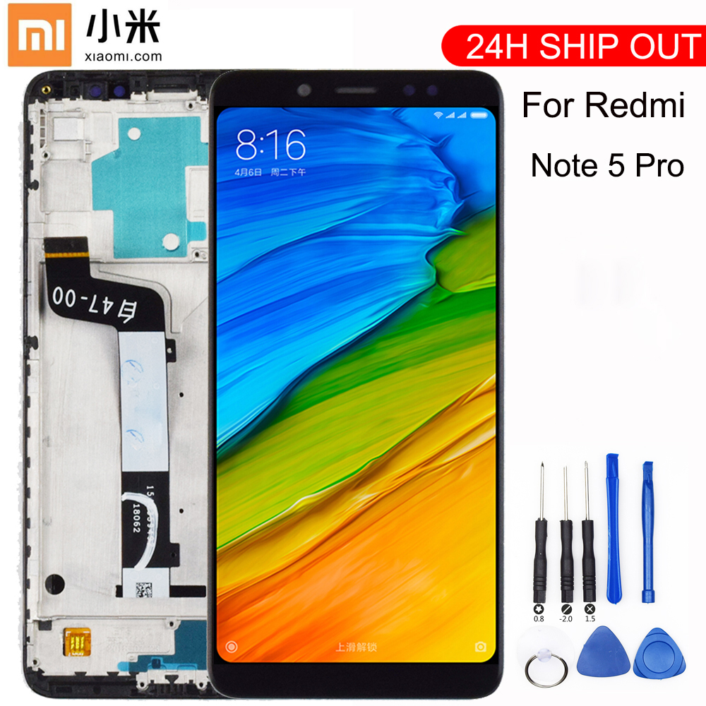 New For Xiaomi <font><b>Redmi</b></font> <font><b>Note</b></font> <font><b>5</b></font> <font><b>Pro</b></font> <font><b>LCD</b></font> Display Touch <font><b>Screen</b></font> Panel Test Good Digitizer Assembly Replacement For Xiaomi <font><b>Redmi</b></font> <font><b>Note</b></font> <font><b>5</b></font> image
