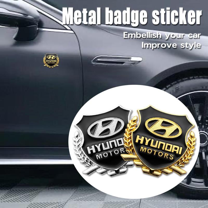 2 шт. автомобильный Стайлинг 3D наклейки из металла Hyundai эмблемы для Hyundai i10 i30 i20 Sonata Accent Tucson Elantra автомобильные аксессуары|Наклейки на автомобиль|   | АлиЭкспресс