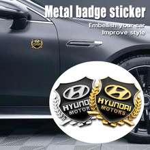 2 шт. автомобильный Стайлинг 3D наклейки из металла Hyundai эмблемы для Hyundai i10 i30 i20 Sonata Accent Tucson Elantra автомобильные аксессуары