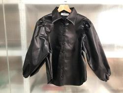 New design za PU faux leather Womens Blouses Shirts puff sleeve autumn Womens tops and blouses streetwear korean Camisa Blusas 5