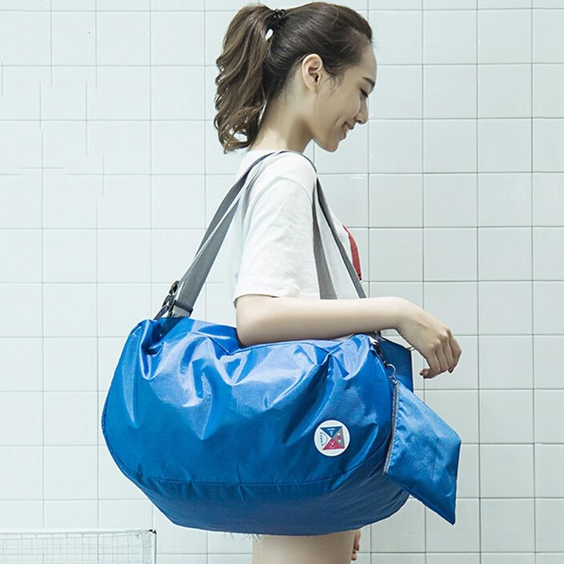 Blue Travel Backpack Packsack Storage Sholder Bags Tote Handbag Outdoor Bags