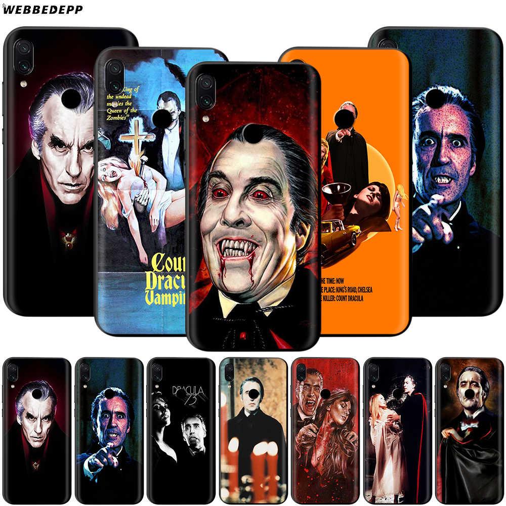 Dracula Christopher Lee kılıf Xiao mi kırmızı mi not 8 mi 3 6 8 9 A1 A2 A3 8A 6X9 T CC9 Lite SE Pro Max F1 10