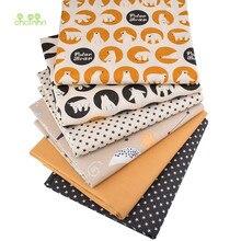 Chainho,6 pièces/lot, série ours, tissu en coton sergé imprimé, vêtements Patchwork pour bricolage couture Quilting bébé et enfant matériel, 40x50cm