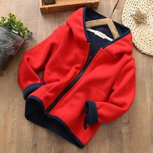 TAutumn Baby Kids Girl Boy Outerwear Letter Print Long Sleeve Casual Plus Velvet Hoodie Zipper Sweatshirt Kids Outfits Tops