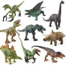 9 шт/компл модель Юрского периода Брахиозавр тайцератопс с вырезами
