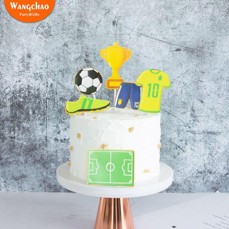 Brilliant 6Pcs Set Soccer Dream Champion Football Theme Boy Happy Birthday Funny Birthday Cards Online Alyptdamsfinfo
