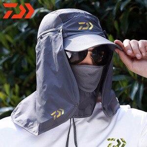 Маска Daiwa с защитой от ультрафиолета, маска для лица и шеи от солнца, рыболовная Кепка DAWA, рыболовство, для активного отдыха, спорта, походов, ...