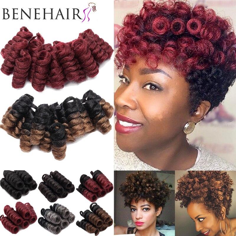 BENIHAIR, синтетические плетеные волосы, ямайские косички, вязанные крючком косички, весенние вьющиеся волосы, Омбре, косички, наращивание воло...