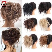 Manweisхрустящий пучок волос, синтетический удлинитель волос, шиньон для женщин, пучок волос, эластичная повязка для волос, Пончик, хвост