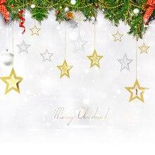 Выдалбливают звезда 7 шт набор браслет Новогоднее украшение новогоднее; рождественское украшения на свадьбу с рисунком пятиконечной звезды пото
