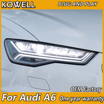KOWELL car styling For Car Styling Head Lamp for Audi A6 LED Headlight 2016-2019 A6L C7 Headlights LED DRL light house projector