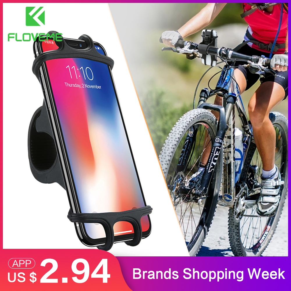 FLOVEME Bicycle Phone Holder For iPhone Samsung Universal Mobile Cell Phone Holder Bike Handlebar Clip Stand GPS Mount Bracket remote control charging helicopter