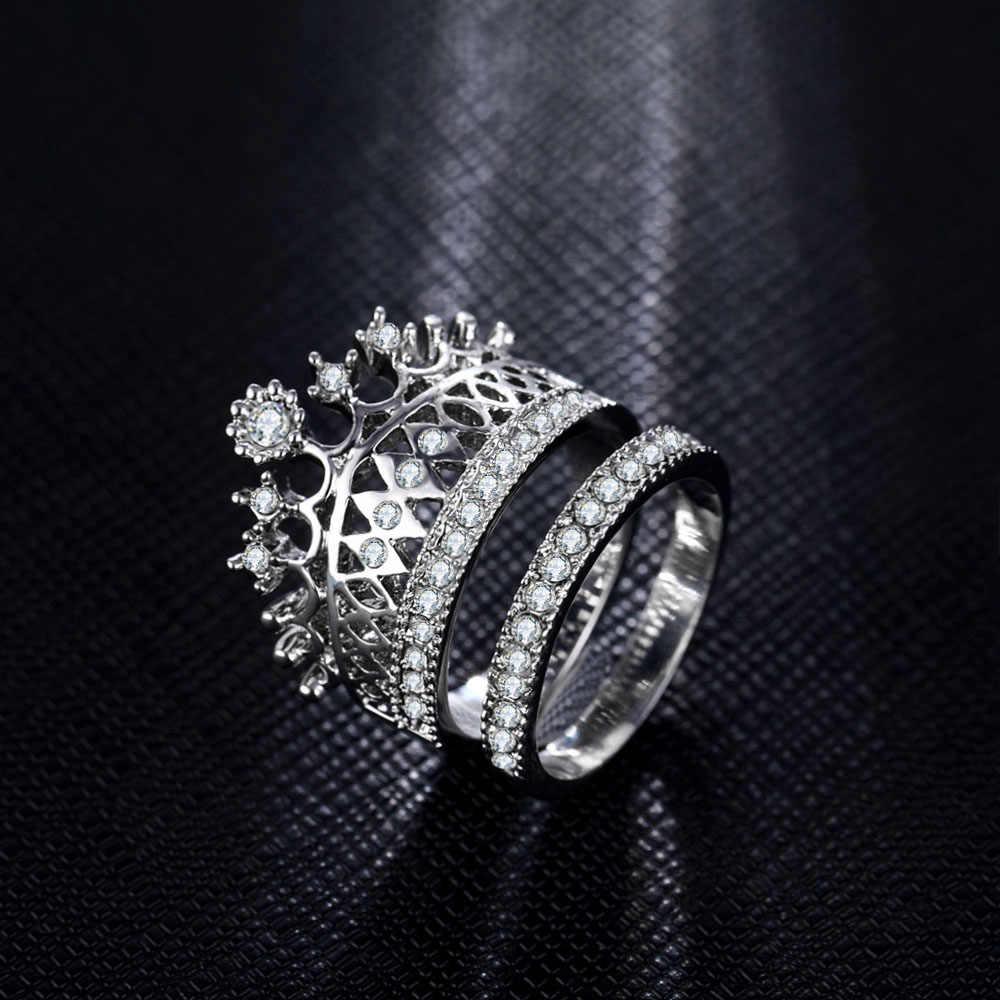 IPARAM 2016, новинка, модные аксессуары, ювелирные изделия, высокое качество, кристалл, императорское кольцо на палец с короной, набор для женщин, девушек, хороший подарок