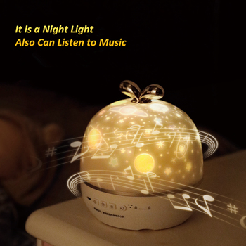 Music Night Light Projector Dream Spin Starry Sky Star Master Ocean World Children Kids Baby Sleep Romantic Projection платье dream world dream world mp002xw0tob7