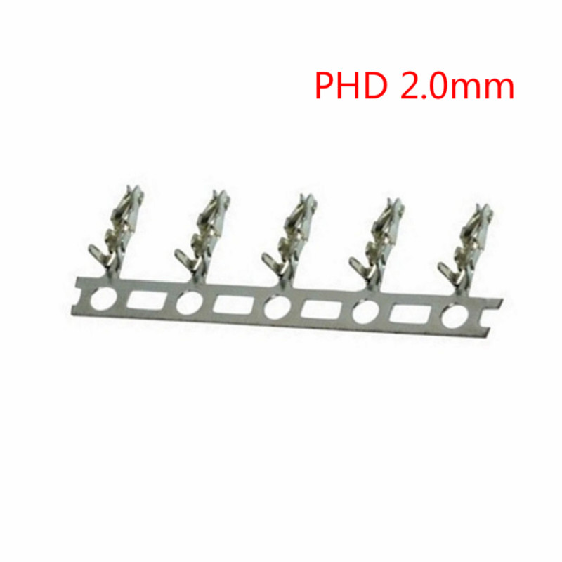 100PCS PHD2.0 Terminal Double Row 2.0 Mating Terminal PHD 2.0mm Double Row Connector Crimping Head Insert Spring