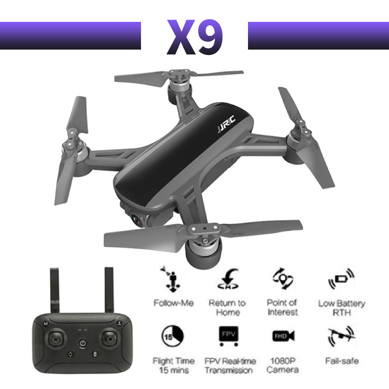 RC Quadcopter JJRC X9 Heron Drone GPS 1080P HD Camera 5G WIFI FPV Brushless Stable Gimbal Foldable Selfie Drones Professional image